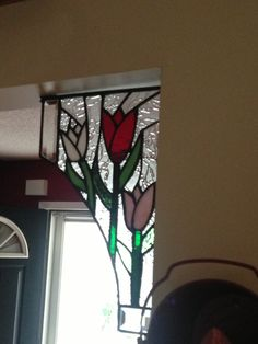 Close up of my accent pieces. Made by Jersey Boy Stained Glass.