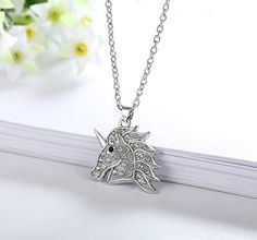 Amazon.com: Crystal Unicorn Pendant Necklace Fashion Jewelry Gifts for Girls Women 2 Styles (Rose Gold-tone): Jewelry Fashion Jewelry Necklaces, Jewelry Gifts, Unicorn Necklace, Gifts For Girls, Rose Gold, Pendant Necklace, Crystals, Amazon, Silver