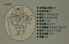 수지침자리, 수지침요법, 손바닥(손등) 지압법, 손 혈자리 : 네이버 블로그