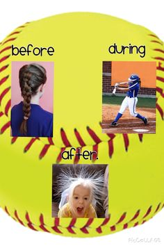Sport Hairstyles Basketball Faces 40 Ideas For 2019 Softball Chants, Softball Pitching, Girls Softball, Softball Players, Fastpitch Softball, Softball Bows, Softball Stuff, Baseball Mom, Softball Braids