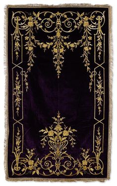 [Ottoman Empire] Palace Prayer Rug, 19th Century (Osmanlı Kadife Saray İşi Seccade, 19. YY)