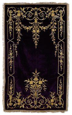 [Ottoman Empire] Palace Prayer Rug, 19th Century (Osmanlı Kadife Saray İşi Seccade, 19. YY)