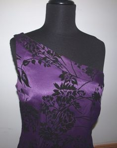 Purple and Black One Shoulder #Dress with Satin Lined Cape from The #Gypsy Cottage on #Artfire.com