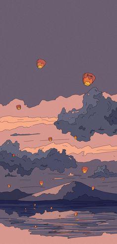Soft Wallpaper, Anime Scenery Wallpaper, Iphone Background Wallpaper, Aesthetic Pastel Wallpaper, Kawaii Wallpaper, Naruto Wallpaper, Pretty Wallpapers, Cute Cartoon Wallpapers, Animes Wallpapers