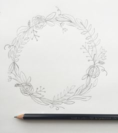"""I'm back with my third post in the """"How to Draw"""" series. (You can view the first two here and here.) I love drawing wreaths but I find myself feeling really ove"""
