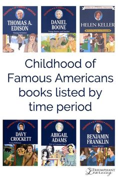 Instead of learning only about the accomplishments of famous Americans, learn about their childhoods and some of the circumstances that shaped their lives in the Childhood of Famous Americans series. Book listing by time period.