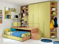 Loft wooden teenage bedroom KIDS S2 Kids Collection by FAER Ambienti by Gruppo Lube | design Vittorio Lanciani