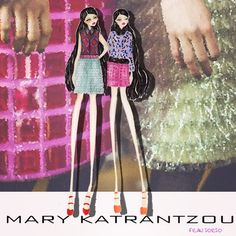 Ok...if u don't know @marykatrantzou and her amazing style it's ur problems.. A BIG PROBLEM!!  stand up for the princess of texture #marykatrantzou  ️illustration by #franiorio