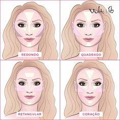 Contornos e iluminação para cada tipo de rosto, segundo a #vult