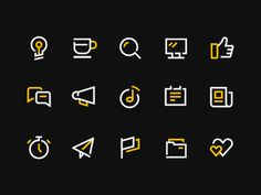 Some icons #icondesign #outline #twocolored