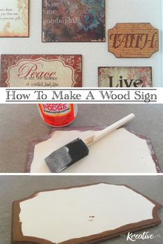 Learning how to make a wood sign is pretty easy. A diy wood sign for your home only requires a few supplies and can be complete in a matter of minutes, so grab your supplies and start making your own wood sign.