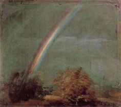 Landscape with a Double Rainbow, 1812  John Constable