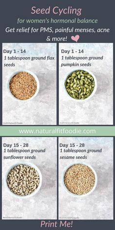 Healthy Living Tips Have you heard of seed cycling? Learn all about this delicious and easy way to bring your hormones back into balance naturally so that you can get relief from symptoms such as painful menses, acne, PMS and more. Diet And Nutrition, Nutrition Education, Health Diet, Men Health, Nutrition Chart, Holistic Nutrition, Nutrition Websites, Potato Nutrition, Fruit Nutrition
