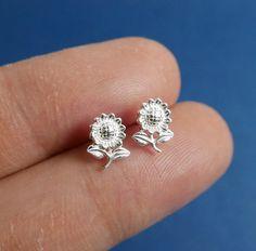 925 Sterling silver ear studs bridesmaid gift by Handmade Silver, Handmade Jewelry, Lip Stud, Cartilage Ring, Ear Studs, Bridesmaid Gifts, Fashion Earrings, Hoop, Piercings