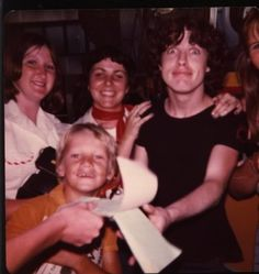 Angus Young with fans