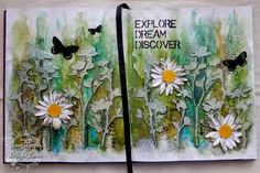 Saturday Step by Step - Stencils and Crackle and Journals, oh my!