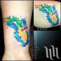 Watercolor tattoo artist. Orlando, FL. http://www.russellvanschaick.com