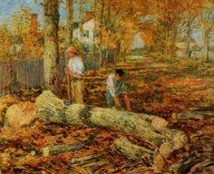 Lumbering - Childe Hassam