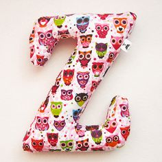 pillow in the shape of the letters Z Zeina, Name Letters, Word Design, Awesome Bedrooms, Baby Names, Pillows, Cushions, Little Girls, Dinosaur Stuffed Animal