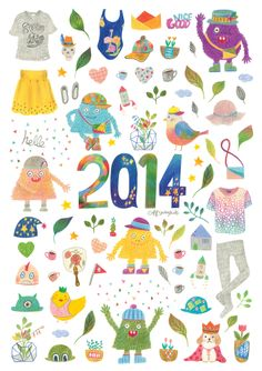 2014 ILLUST CALENDAR by Jeong mi , via Behance