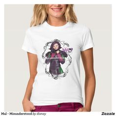 Mal - Misunderstood Tshirts Disney Descendants Shirt  Featured design available on many other shirt styles.  Take a look!