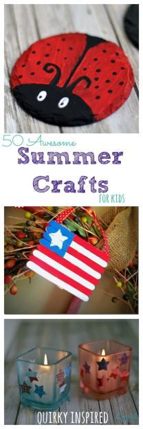 It's so easy to keep the kids happy with these 50 awesome summer crafts for kids!