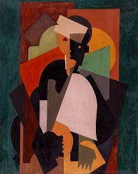 "Albert Gleizes, ""L'Ecolier"", 1920, gouache and tempera on canvas."