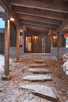 shed roof entrance