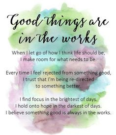 Good things are in the works affirmation and self develop Positive Affirmations Quotes, Morning Affirmations, Affirmation Quotes, Positive Quotes, Motivational Quotes, Inspirational Quotes, Self Love Affirmations, Positive Thoughts, Positive Vibes