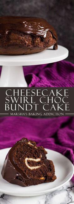 Cheesecake Swirl Chocolate Bundt Cake   http://marshasbakingaddiction.com /marshasbakeblog/