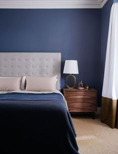 Navy Blue Bedroom | Figtree House | Arent & Pyke