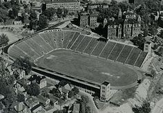 Nothing represents the old Morgantown more than the old Mountaineer Field at WVU. Mountaineers Football, Wvu Football, West Virginia University, Take Me Home, Back In Time, Small Towns, Traveling By Yourself, City Photo, Old Things