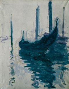 Gondola in Venice by Claude Monet