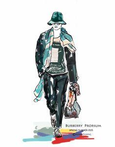 fashionillustration 2015ss burberry prosum