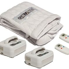 """ChiliPad - Cooling/Heating Mattress Pad Enjoy perfect sleeping temperatures and save big on energy costs. Adjust your bed instead of your room, and save year-round. The ChiliPad uses a unique water circulation system to warm or cool your mattress efficiently. In fact, ChiliPad control units use only 80W of energy on average. Compare that to the far higher cost of running the air conditioner. Cal King Dual-zone ChiliPad 72"""" x 84"""" - $999.00"""