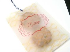 Personalized Printed Vellum paper gift bags 15pcs/ set by puffylambbows, $6.00