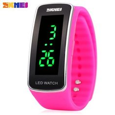 Skmei 1119 LED Light Sports Watch Silicone Strap Unisex Wristwatch Water Resistance. Starting at $1