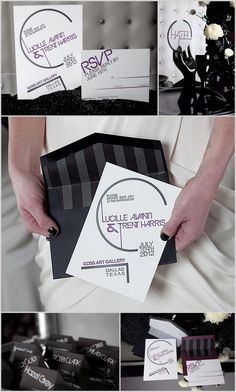 Modern wedding invitation by Southern Fried Paper