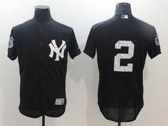 New York Yankees #2 Derek Jeter Black 2017 spring training Flexbase Collection Jersey