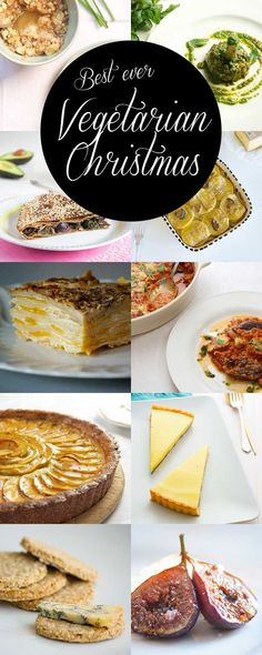 Vegetarian Christmas Recipes Round-Up (with gluten-free options) - delicious vegetarian and vegan appetizers, entrees, sides & desserts | ramsonsandbramble.com