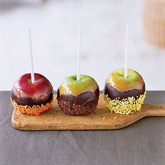 Chocolate Caramel Apples with Sprinkles | Coastalliving.com