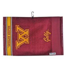 Team Effort NCAA Face/Club Jacquard Golf Towel - University of Minnesota