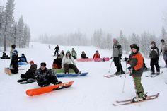Ritavalkea downhill skiing centre in Pello in Finnish Lapland