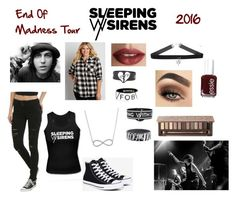 """Sleeping With Sirens Concert"" by supergirl20349 ❤ liked on Polyvore featuring Converse, maurices, Essie, TheBalm, Urban Decay and Anne Sisteron"