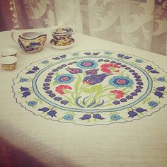 #chaina #tea #cup #ottoman #turkish #tile #blue #red #green #istanbul #turkey #teatime #xstitch #xstitcher #xstitched #petitpoint #etaminişi #tablo #tulip #cross_stitch