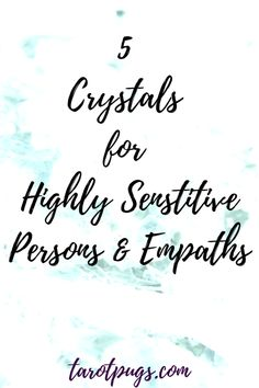 5 Crystals for highly sensitive persons (HSP) and empaths. Chakra Crystals, Crystals And Gemstones, Stones And Crystals, Highly Sensitive Person, Sensitive People, Crystal Guide, Meditation Crystals, Psychic Development, Crystal Meanings