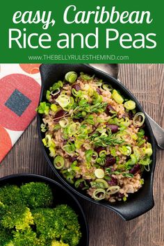 Jamaican rice and peas are a tasty dish that will instantly transport your taste buds to the Caribbean. We use the Instant Pot to take all the stress out of making this classic dish. In less than 30 minutes, you can enjoy a filling meal or have a bold, spicy and slightly sweet side dish to serve alongside your favorite entrees. Make this and treat your family to a mealtime vacation! Superfood Recipes, Healthy Eating Recipes, Delicious Vegan Recipes, Tasty Dishes, Side Dishes, Caribbean Rice, Jamaican Rice, Rice And Peas, Good Food