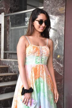 Shraddha Kapoor looks sweet in a multi colored gown Hottest Models, Hottest Photos, Shraddha Kapoor Cute, Half Girlfriend, Sraddha Kapoor, South Actress, Beautiful Girl Image, Most Beautiful Indian Actress, Celebs