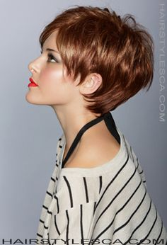 The perfect summer short hairstyle. Think about it: