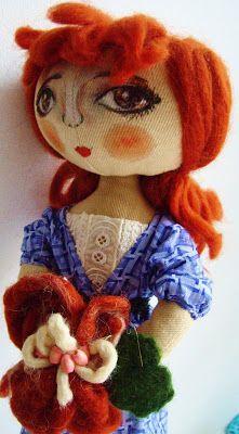 Textile doll Marina_dolls: Rice